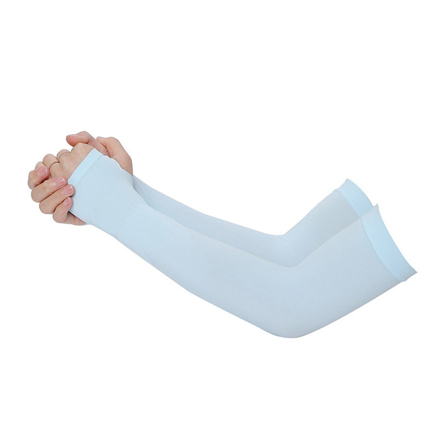 1 pair Men Pure Color Arm Sleeve Sport Running Cycling Golf Fishing Fingerless Arm Warmers Women Basketball Cuff Sleeves 1