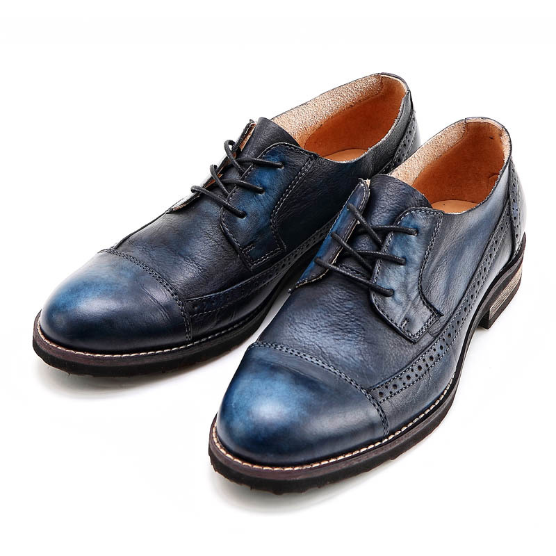 England Style Genuine Leather Carved Retro Wing Tip Dress Footwear Lace Up Fashion Mens Casual Shoes Cow Leather Brogue Shoes