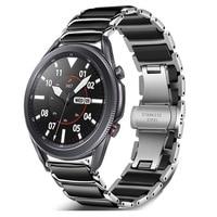 20Mm 22Mm Keramische Band Voor Samsung Galaxy Horloge 42Mm 46Mm/Actieve 2/Huawei Gt GT2/Amazfit Gtr 47Mm Metalen Roestvrij Stalen Band