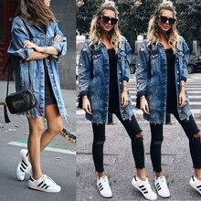 2019 New Vintage Denim Jackets Women Hole Style Jean Jacket