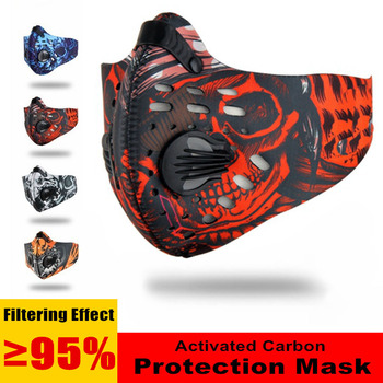Cycling Mask Activated Carbon Dust-proof Cycling Face Masks PM2.5 Anti-Pollution Bicycle MTB Bike Outdoor Face Mask Men/Women
