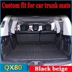 ZHAOYANHU Tùy Chỉnh Cốp xe ô tô thảm cho Infiniti QX80 tạo kiểu thảm thảm lau chân