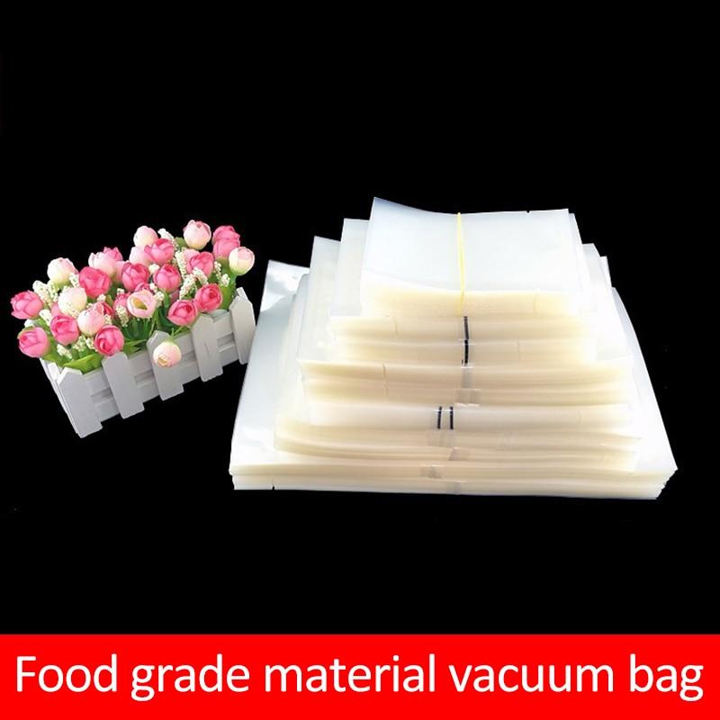 Пакеты для вакуумного упаковщика 100 шт., пластиковые пакеты для хранения продуктов питания, вакуумная упаковочная машина для вакуумного упа...