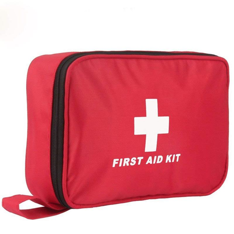 ABKT-First Aid Kit, 180 PCS Emergency First Aid Kit Medical Supplies Trauma Bag Safety First Aid Kit For Sports/Home/Hiking/Camp
