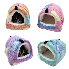 Winter Warm Hamster Bed Hanging Sugar Glider Hammock Nest Home Small Pet Cage Accessories Bedding for Rat Hide Cave
