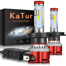2pcs Turbo H4 HA CONDOTTO il Faro 16000Lm 6000K CSP Per Mitsubishi Lancer 10 Galant Outlander 9005 HB3 9006 HB4 h11 LED Auto Faro(China)