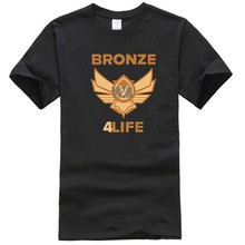 100% cotton round neck printed T-shirt bronze V bronze 5 for life Noob League t-shirt of legends(China)