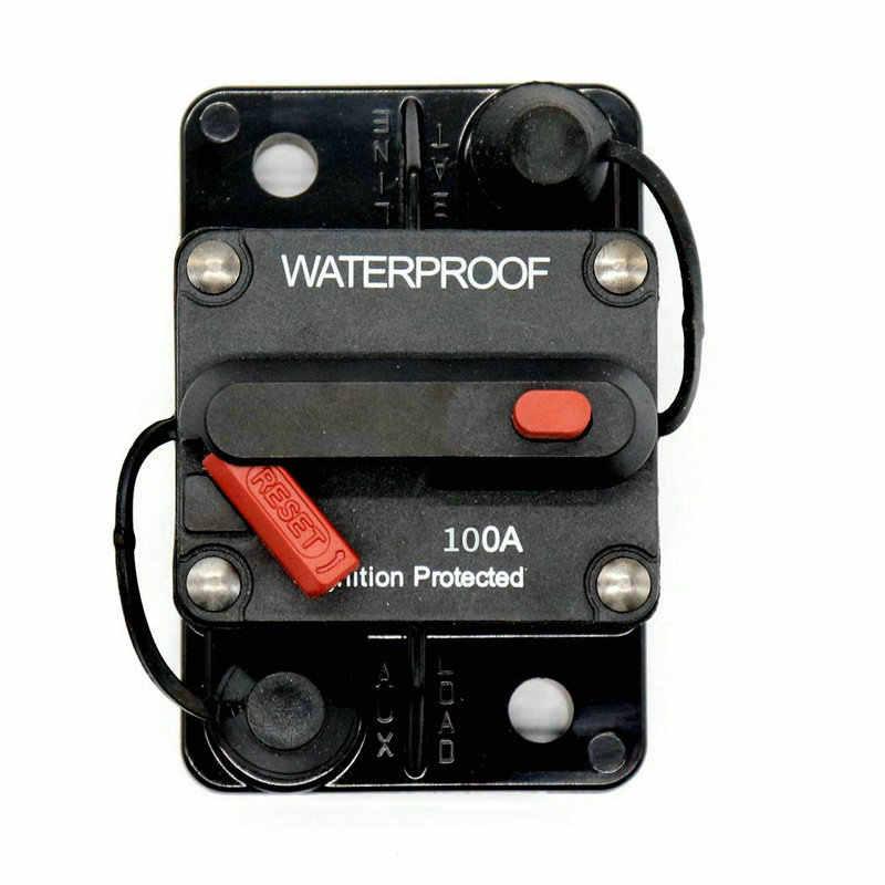 Auto Circuit Breaker 100a Hand Reset mit Switch Circuit Breaker Protector Selbst-, die Sicherung Sitz Platz