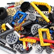 LIizhi Random Bricks 500g Technic Parts Gear Liftarm Beam Cross Axle Frame Connector Pin Technic Piece Building Toys