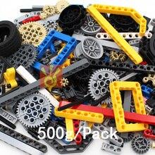 Liizhi tijolos aleatórios 500g técnica peças engrenagem liftarm feixe cruz eixo quadro conector pino peça técnica brinquedos de construção
