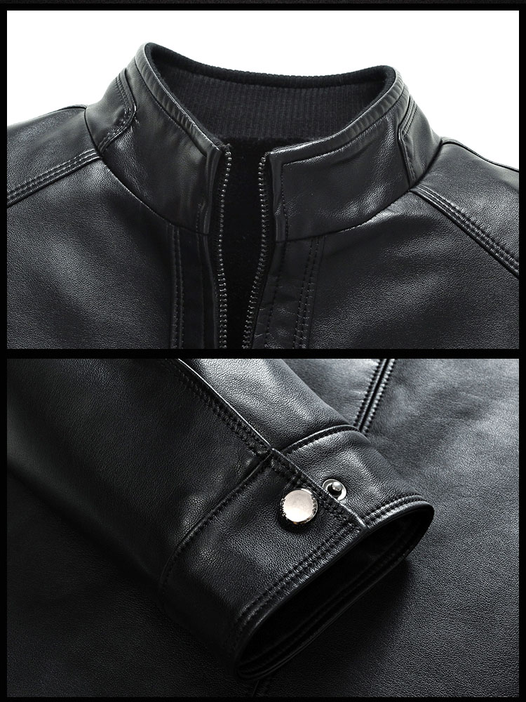 H2eef684eba3a44e7a45c35fea6ec9b97y Plus size men genuine leather jacket 4XL 5XL 6XL 2020 spring and autumn zipper male sheepskin leather jacket father outwear P07