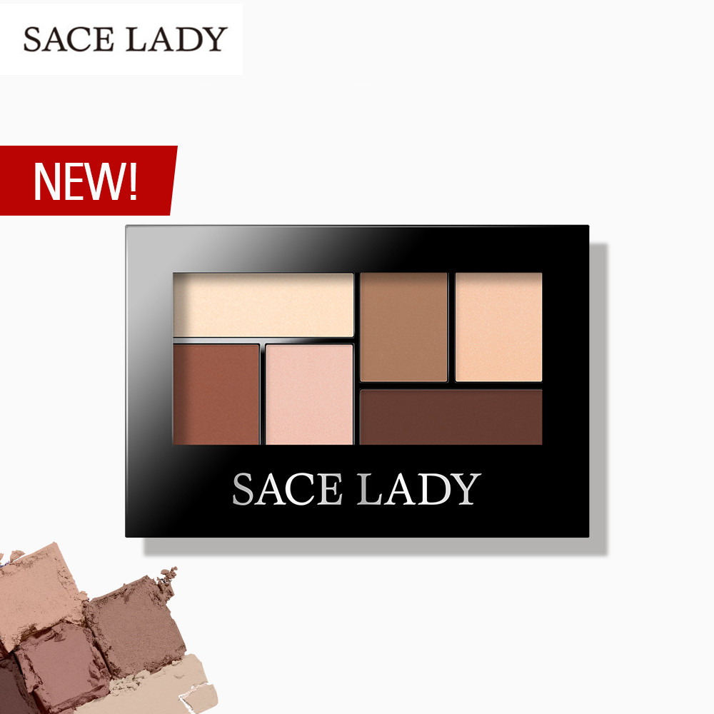 SACE LADY Glitter Eyeshadow Palette Waterproof Makeup Pigment Cosmetics 6 Colors Shimmer Eye Shadow Pallete Matte Naked Make Up(China)