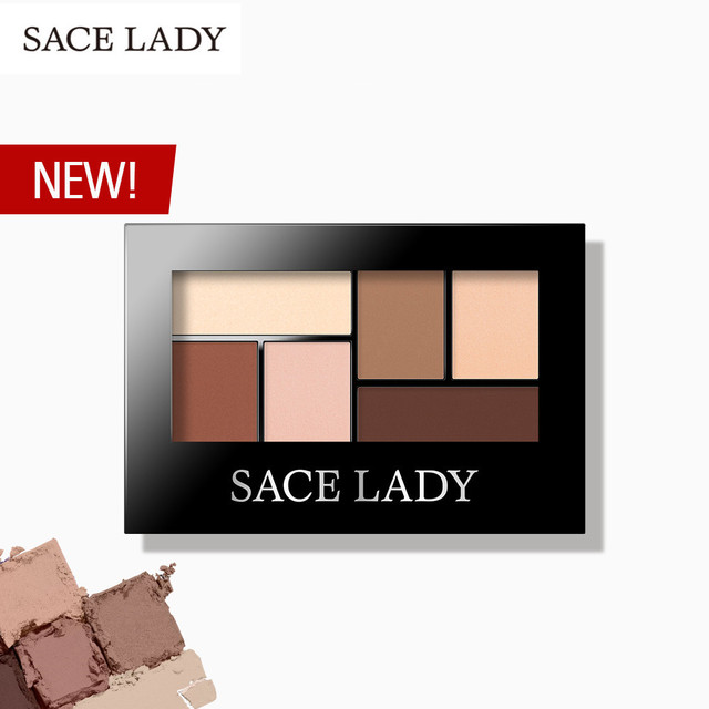 SACE LADY Glitter Eyeshadow Palette Waterproof Makeup Pigment Cosmetics 6 Colors Shimmer Eye Shadow Pallete Matte Naked Make Up