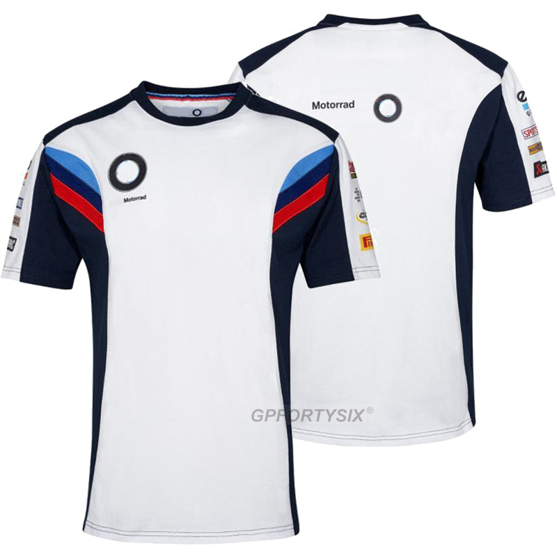 Summer Motorrad Motorcycle Racing <font><b>T</b></font>-<font><b>shirt</b></font> For <font><b>BMW</b></font> Super Speed Motorbike Riding <font><b>T</b></font> <font><b>shirt</b></font> Motocross Bicycle Cycling Short Jersey image