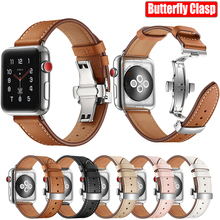 Butterfly Watch Band Strap for Apple Watch 5 Band iWach 44mm 40mm Italian Genuine Leather Bracelet for Apple Watch 4 3 2 1 42 38