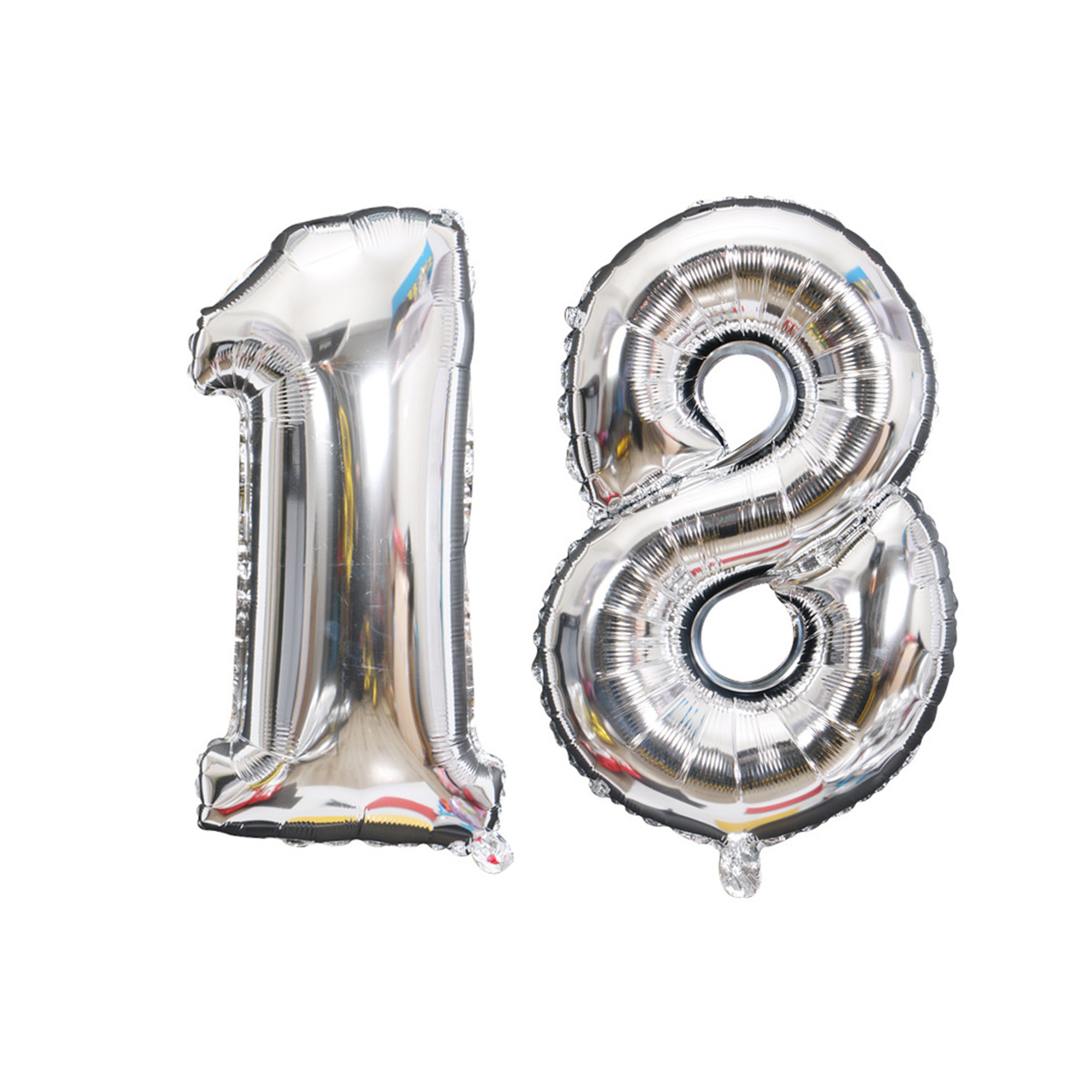 Large 16 32 Inch Balloons Number 16 18 21 30 40 50 Silver Gold Foil ballon Happy Birthday Decoration Anniversary Party Decor
