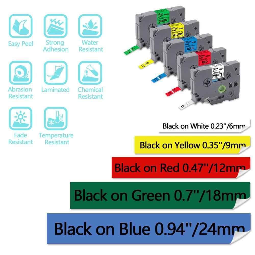 UniPlus TZe-232 TZE232 LABEL Maker สำหรับ Brother P-touch Cube เครื่องพิมพ์สีแดงสีขาวเทปติดฉลาก 12 มม.* 8 M เครื่องพิมพ์ดีดสติกเกอร์