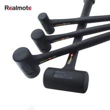 Rubber Shockproof Hammer Wear-resistant Anti-skid Hammer Round Head No Rebound Shock-absorbing Hammer Practical Hand Tools
