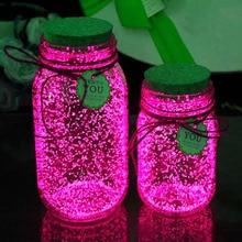 10г поделки звездное желаю бутылки порошок светло-до игрушки Безызлучательных люминесцентные люминесцентные светящиеся краски пигмент ну вечеринку своими руками Яркие картины