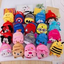 Plush Backpack School-Bag Hello-Kitty Disney Cute Spiderman-Toy Girl Baby Minnie Children