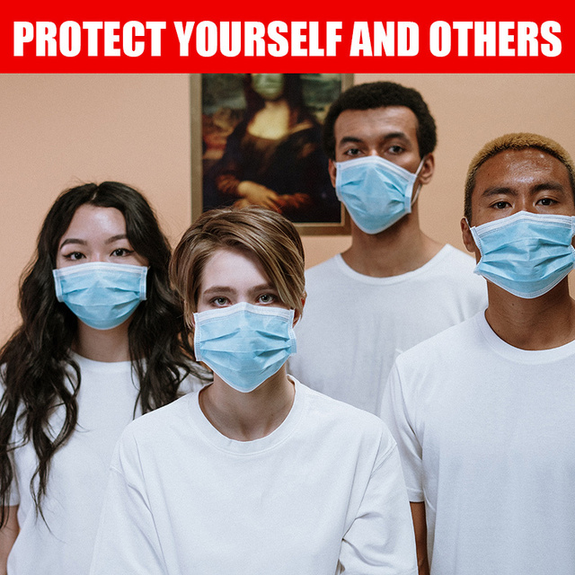 50pcs 3-layer Disposable Masks for Civil Use Cotton Mouth Mask Anti Dust Mask Windproof for Adults Bacteria Proof Flu Face Masks 1