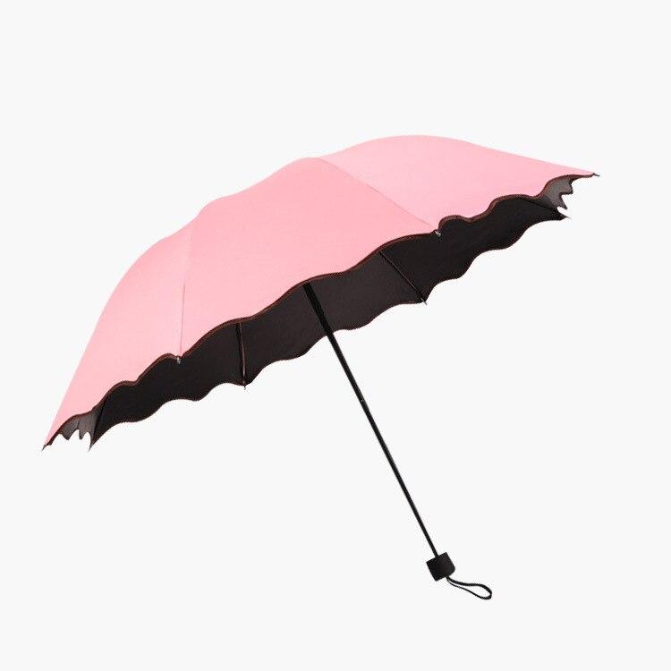 Manufacturers Wholesale Water Open Vinyl Umbrella Sun-resistant College Style Three-fold Umbrella Creative 8-Strand Folding Umbr