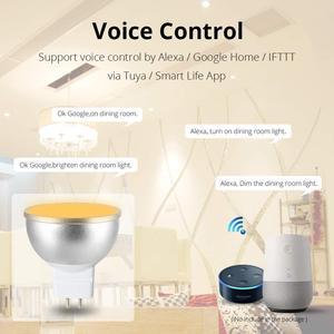Image 4 - Boaz חכם Wifi GU5.3 אור חכם הנורה RGBW צבעוני Wifi חכם זרקור קול שלט רחוק Alexa הד Google בית IFTT