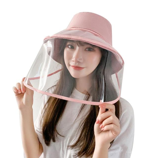 Protection Hat Hat with Face Shield Safety Anti-Saliva Anti-Fog PU Transparent Removable Lightweight Comfortable Breathable 3
