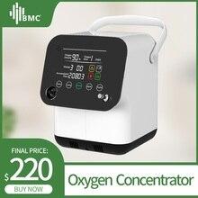 BMC портативный концентратор кислорода мини кислородная машина 1-6 л/мин Регулируемый для сна очиститель воздуха бытовой монитор здоровья