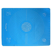 Blue Professional Kitchen Mat with Measuring Guide - Decorations of Cakes, Pastries and Biscuits - Dish Washable(China)