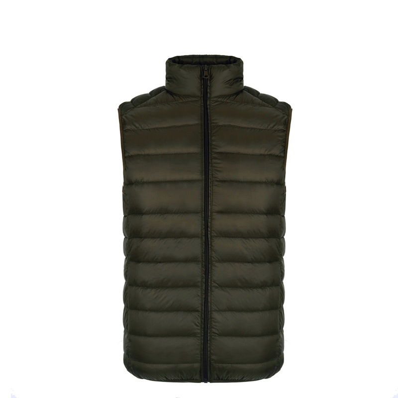 Plus Size Men Sleeveless Coat Winter Ultra Light White Duck Down Vest Male Slim Vest Men's Windproof Warm Waistcoat 9687