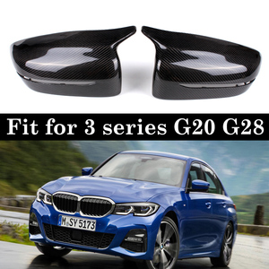 Image 1 - Real Carbon Materials Rearview Mirror Cover Cap For BMW 3 Series G20 G28 Replacement Style LHD