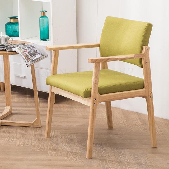 Solid Wood  Modern Minimalist Armrest Chair 3