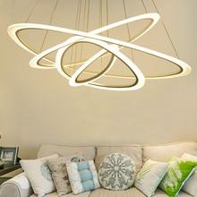 цены LED Modern Pendant Lamp Circular Dining Room Lamp Simple Living Room Hotel Creative Office Acrylic Pendant Lamp