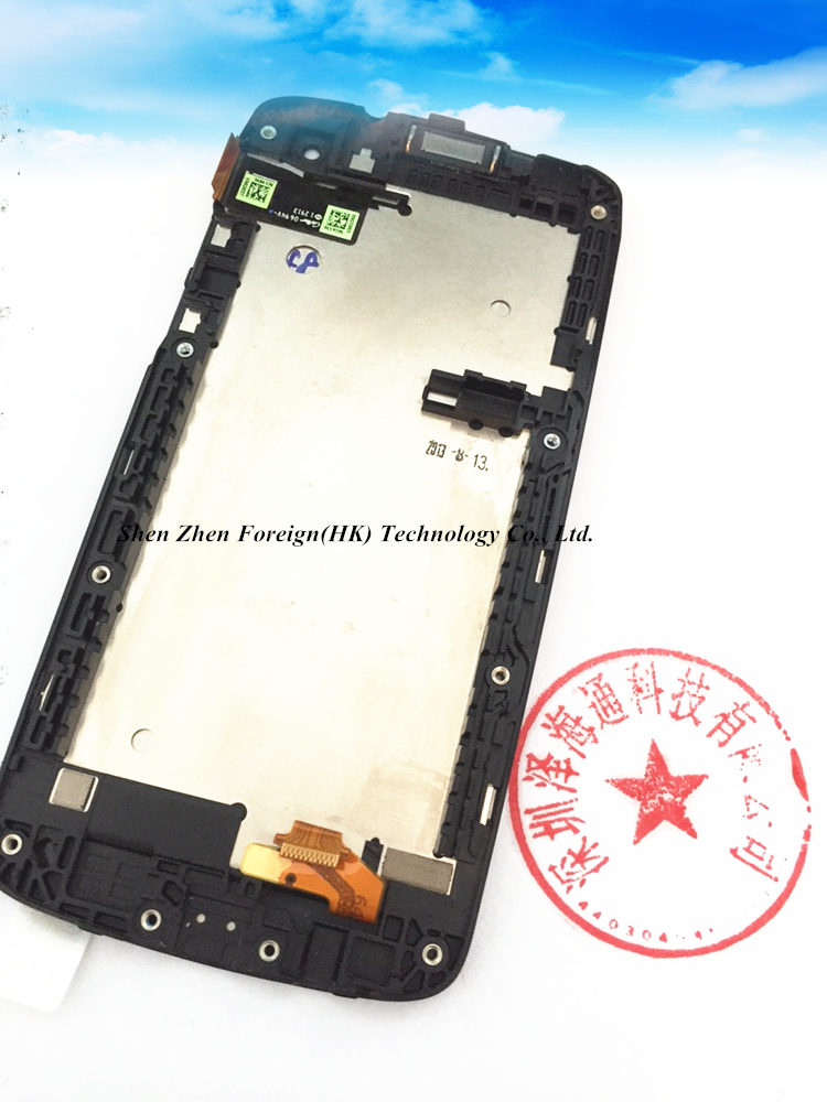 Good Quality Original Screen With Frame LCD Display  For Htc Desire 500 5088 Free Shipping