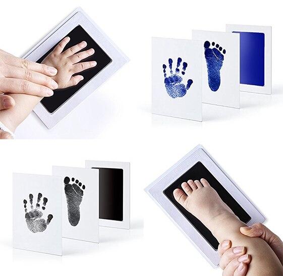 Bebê não-tóxico handprint pegada impressão kit lembranças fundição recém-nascido mão tinta almofada do bebê crianças presente de aniversário criativo lembrança
