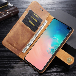 Image 4 - Genuine Shockproof Removable Wallet Case For Samsung S10 S9 S8 Plus Flip Leather Cover S10e Note8 Note9 S7 edge Business Coque