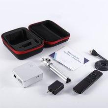 Мини-проектор E05 Android 4,4 четырехъядерный процессор wifi tv Box HD светодиодный DLP Мультимедийные проекторы 1 Гб ram 8 Гб rom 3 цвета