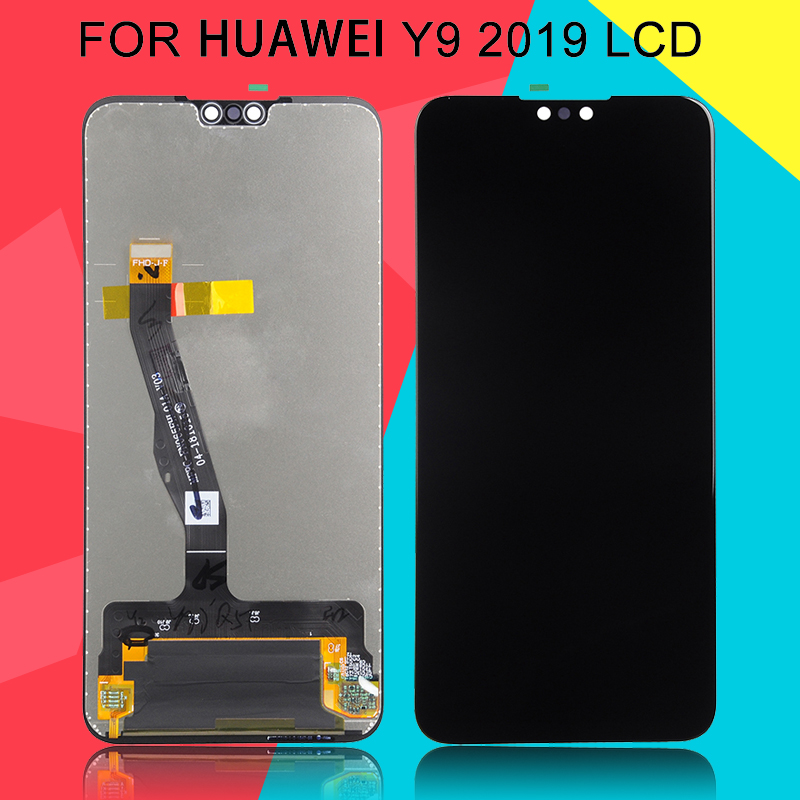 Dinamico Free Shipping Enjoy 9 Plus Display For <font><b>Huawei</b></font> <font><b>Y9</b></font> <font><b>2019</b></font> <font><b>Lcd</b></font> Touch Screen Digitizer Assembly BLA-L09 L29 <font><b>Lcd</b></font> Replacement image
