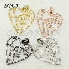 5 pieces Fashion Love pendants mix colors LOVE charm pendants necklace pendants fashion jewelry accessories 50164