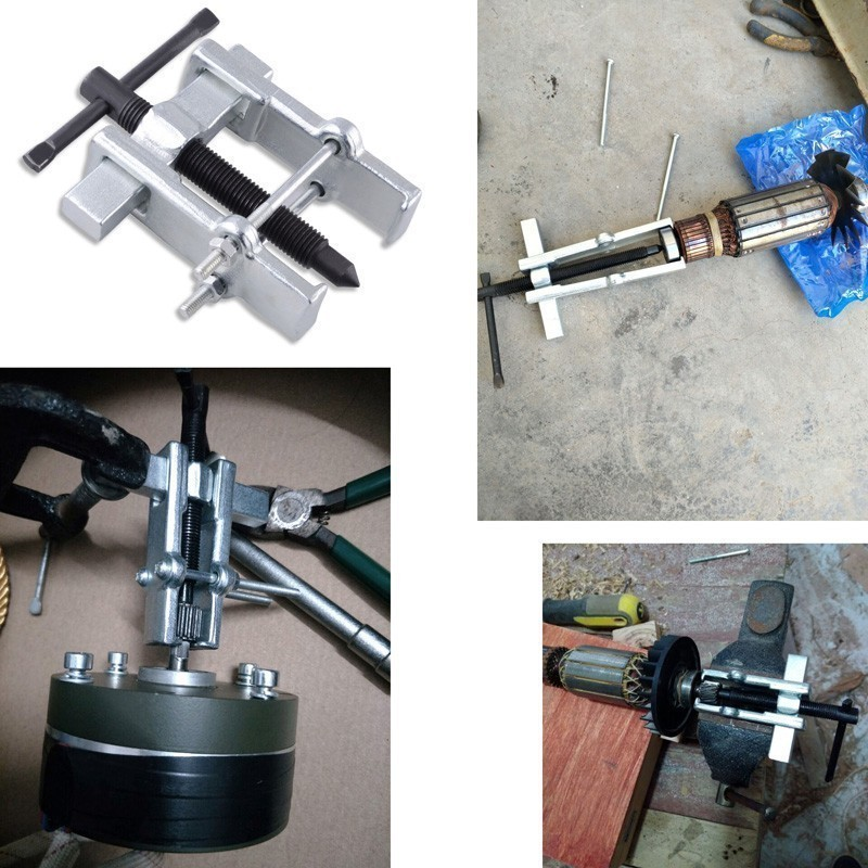 2''-65mm Chrome Vanadium Steel Two Jaws Gear Puller Armature Bearing Spiral Puller Electrical Materials Remover Hand Tools