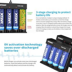 Image 5 - XTAR MC4S 3.7V סוללה מטען TypeC קלט USB מטען עבור 18650 סוללה 10400 26650 1.2V NI MH/CD AAA AA סוללה מטען 18650