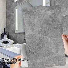 30x60cm gris clair ciment auto-adhésif sol autocollants salle de bain cuisine mur escaliers étanche carrelage autocollants décoration de la maison