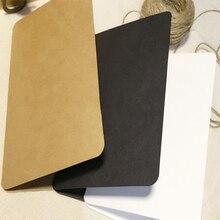Простые складные карты, белые, черные, желтые, крафт-бумага, новогодние, вечерние, пригласительные, Подарочная коробка, подарочный пакет, открытка с благодарностью, 10 шт/20 шт/40 шт