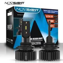 Novsight lâmpada automotiva, farol de led automotivo super brilhante h4 led h7 h11 h8 hb4 hb3, feixe alto e baixo, 50w, 10.000lm 6500k farol automotivo para nevoeiro 12v