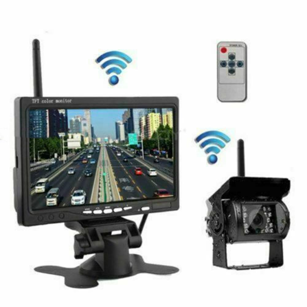 7 Inch Car monitor TFT LCD Rear View Camera Two Track Wireless Rear view camera Monitor For Truck Bus Parking Rear view System