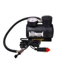 300PSI Mini Air Compressor 12V Car Auto Portable Pump Tire Inflator with Gauge Air Compressor For Car Trucks Tires power 12v 150psi 2 cylinder car air compressor tire inflator pump universal for car trucks bicycle portable emergency heavy duty