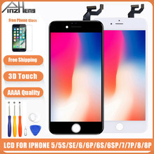 AAAA Bildschirm LCD Für iPhone 6 6s 7 8 Plus LCD Display Für iPhone 5 5S SE Bildschirm montage Digitizer Mit 3D Touch Ersatz LCD(China)