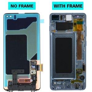 Image 2 - 3040x1440 Original AMOLED 6,4 S10 PLUS LCD Für SAMSUNG Galaxy S10 + SM G9750 G975F Display Touchscreen digitizer Ersatz
