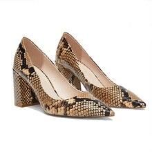 цены shoes heels Hot Sale Pumps women Fashion Colorful Square Heel High Quality Sheepskin Round Toe Shoes New  Women's Pumps
